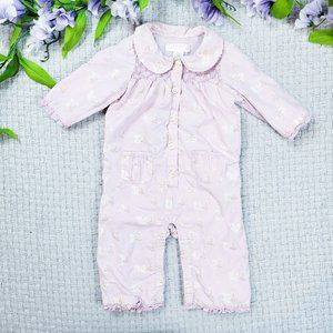 Janie and Jack baby girl pink floral layette